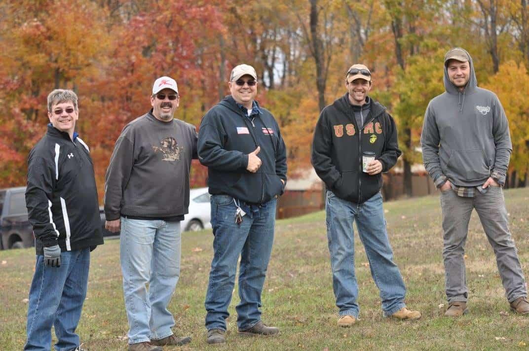 Five men at a retreat