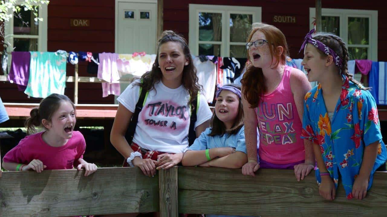 Five girls at camp