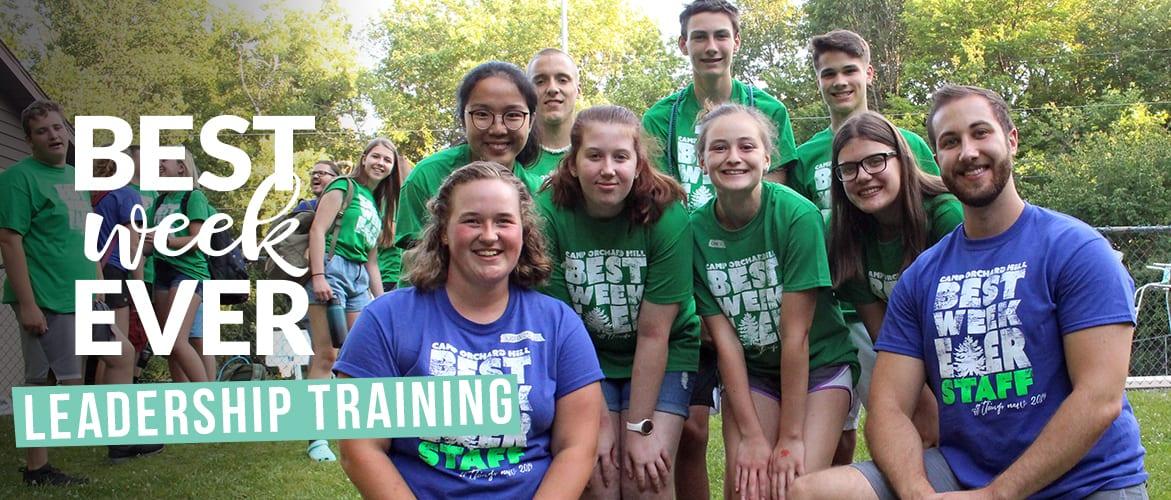 Camp leadership training